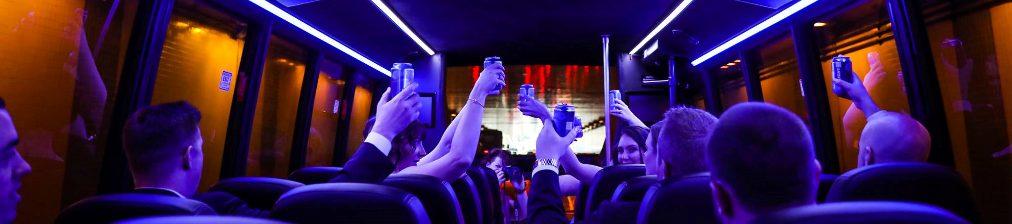 Wedding party luxury minibus shuttle